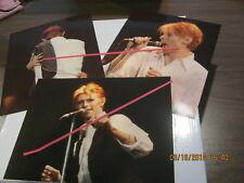 """David Bowie Set of 3 Original Photos 1976 Isolar Tour 8"""" x 10""""s Mint! Rare!"""