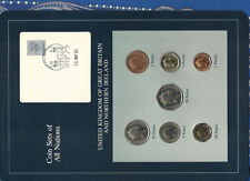 Coin Sets of All Nations Great Britain UNC 1£,2,5,10,50p 1986 1,20 pence 1985