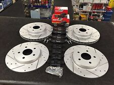 FORD MONDEO MK3 1.8 2.0 2.5 DRILLED GROOVED BRAKE DISC MINTEX PADS FRONT REAR