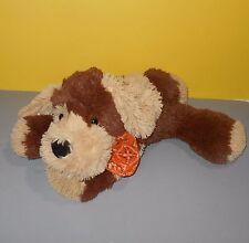 """14"""" Circo Floppy Soft Tan & Brown Plush Puppy Dog w/Orange Bandana Stuffed Plush"""
