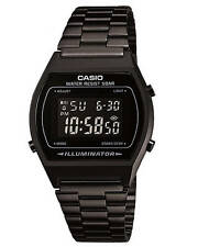 Casio B640wb-1bef Black Classic Digital Watch With Stainless Steel Band