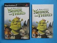 NO GAME- PS2 SHREK THE THIRD - CASE & MANUAL ONLY - NO GAME
