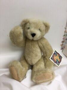 """Vermont Teddy Bear Co. Jointed Tan Teddy Bear 12"""""""