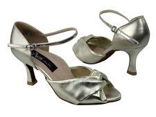 Latin Salsa Very Fine Ballroom Dance Shoes CD6043 Black or Light Gold Leather