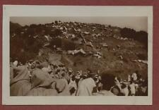 Morocco. Tents people hillside  vintage photograph  qp87