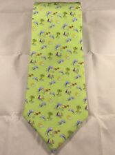 Jos A Bank Neck Tie Dolphins Sailboats necktie palm tree dolphin