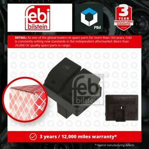 Electric Window Switch fits VW POLO 9N 1.2 01 to 09 6Q0959858A 6Q0959858A01C New