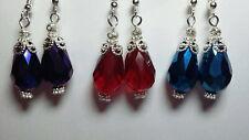 Teardrop victorian vintage antique style dangle fashion handmade earrings