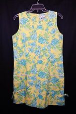 LILLY PULITZER WOMENS VINTAGE YELLOW FLORAL CLASSIC SHIFT DRESS 6 SMALL S YELLOW
