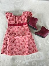 American Girl Caroline's Travel Dress And Boots - New - Retired