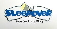 CRAFTECAFE MINDY SLEEPOVER CAMPING premade paper piecing scrapbook title die cut