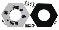 Jive Nuts old school BMX bicycle grip foam donuts BLACK SILVER *MADE IN USA* NOS