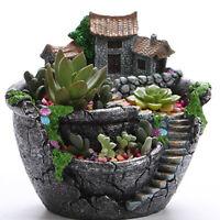 KQ_ BL_ Garden Sky Succulent Plant House Herb Planter Pot Box Bed Flower Basket