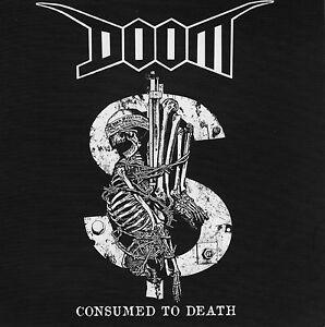 """Doom - Consumed To Death EP 7"""" G/F black vinyl (crust punk d-beat)"""