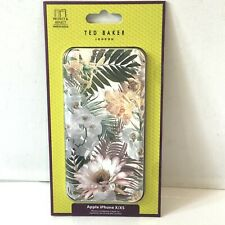 Ted Baker iPhone X XS Full Case Folio Cover Mirror Floral Woodland