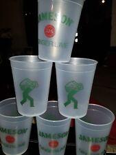 Set of 6 Jameson Irish Whiskey Ginger and Lime Plastic Glasses