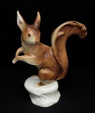 SUPERB VINTAGE ROYAL DUX BOHEMIA LARGE PORCELAIN SQUIRREL FIGURINE