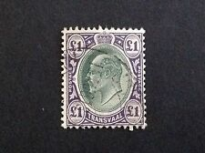 TRANSVAAL   SOUTH AFRICA KEVII 1902-09  1/2d-£1 (13v) with Shades MLH £1-VF USE