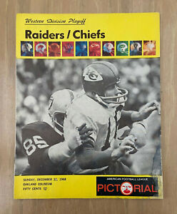 VINTAGE 1968 AFL NFL PLAYOFF PROGRAM  KANSAS CITY CHIEFS @ OAKLAND RAIDERS 12/22