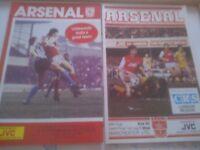 Two Arsenal League cup semi-final programmes
