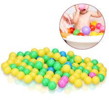 100Pcs Colorful Ball Ocean Balls Soft Plastic Baby Kid Swim Pit Fun Toys OB