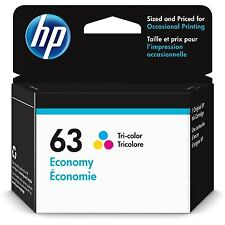 HP 63 | Ink Cartridge | Tri-Color | Economy Size |~145 Pages | 1VV44AN