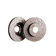 Black Diamond Front Combi Grooved / Drilled Brake Discs  - KBD353