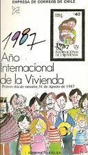 Chile 1987 Brochure Año Internacional de la Vivienda