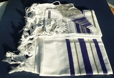 "Jewish Tallit Prayer Shawl Kosher Full Size 36x72"" Men Women Tallis +Tzitzit #36"
