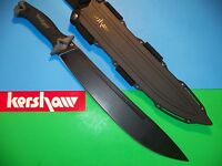 "KERSHAW - CAMP 14 Machete 20"" CARBON STEEL Zombie Killer sword knife ax kai 1076"