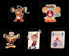 Weightlifting Olympic Pin Badge~Lot of 5~1988~Seoul~Team Mascot Series, Hodori