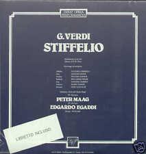 Verdi STIFFELIO Limarilli Gulin Alberti 2 LP sigillato