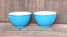 2 Pc Enamel Bowls Old Vintage Home Decor Kitchenware K-13