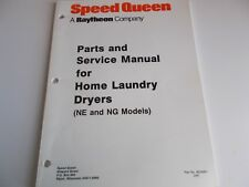 Speed Queen Parts and Service Manual for Home Laundry Dryers NE and NG Models