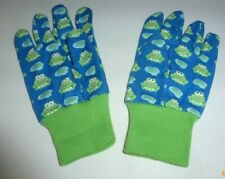 NWOT Kids Blue with Green Frogs Garden Gloves