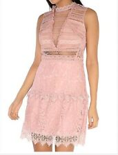 Glamorous pink frill lace skater dress size Uk 8 RRP £66 BNWT