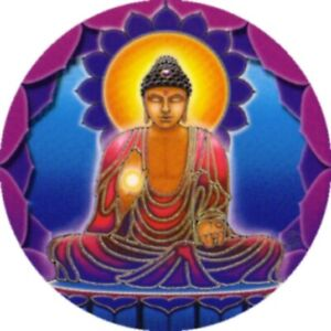Mandala Art Buddha Light window Sticker 2-sided indoor outdoor meditaion