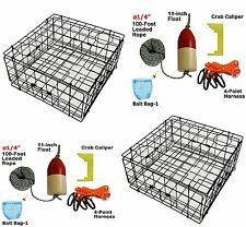 """2-Pack of KUFA Sports 24"""" Vinyl Coated Crab Trap and Accessories (S60+CAQ-1)X2"""