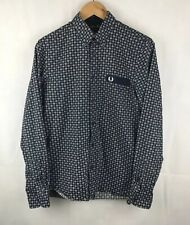 66cc36ce1 Fred Perry x Drakes - Graphic Medallion Print L S Shirt M5349 Size Medium M