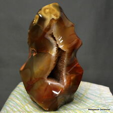 "6.10"" Amazing Carnelian Druzy Agate Flame Statue Reiki Crystal Standup, Сrn717"