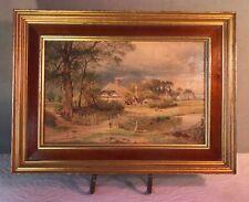 Reproduction DeNunzio 19th C. Landscape Oil after R.R. Benson or E. Cole Framed