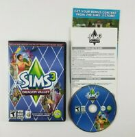 The Sims 3 Dragon Valley  PC/Mac Video Game Complete with Case Disc and Inserts