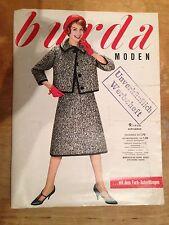 Burda las modas 9/1958 con 2 corte arco Vogue años 50er