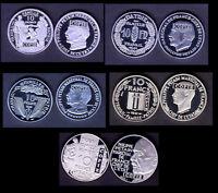 ★★★★ COLLECTION DES 5 COPIES DES 5 ESSAIS NICKEL DES 10 FRANCS PETAIN 1941 ★★★