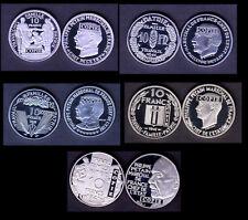 ★★★ COLLECTION DES 5 COPIES DES 5 ESSAIS NICKEL DES 10 FRANCS PETAIN 1941 ★★★