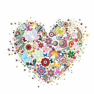 LOVE HEART VALENTINE IRON ON T SHIRT TRANSFER