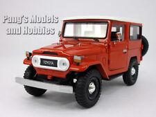 Toyota FJ40 Land Cruiser 1/24 Scale Diecast Metal Car Model - RED