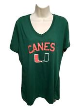Adidas University of Miami Hurricanes Womens Green XL TShirt