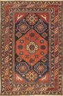 Pre-1900 Antique Vegetable Dye Kazak Russian Tribal Area Rug Hand-knotted 3'x6'