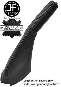 BLACK & BLACK STRIPE HANDBRAKE BOOT & HANDLE COVER FOR MITSUBISHI 3000GT GTO
